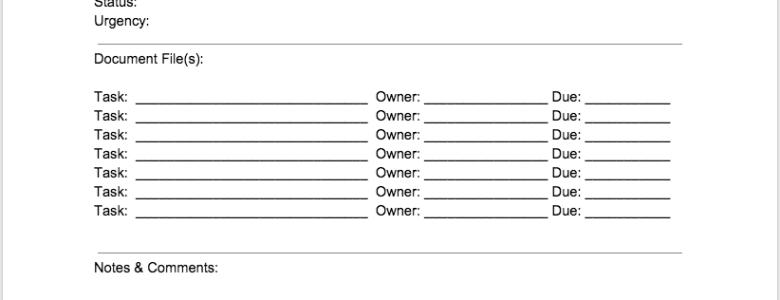 1065 Tax Return Process Sheet