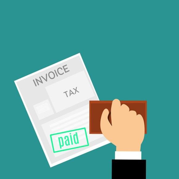 Cartoon of a paid invoice