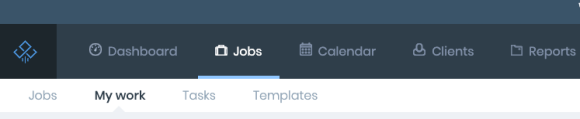 an image of jetpack workflow's my work tab located on the jobs dashboard