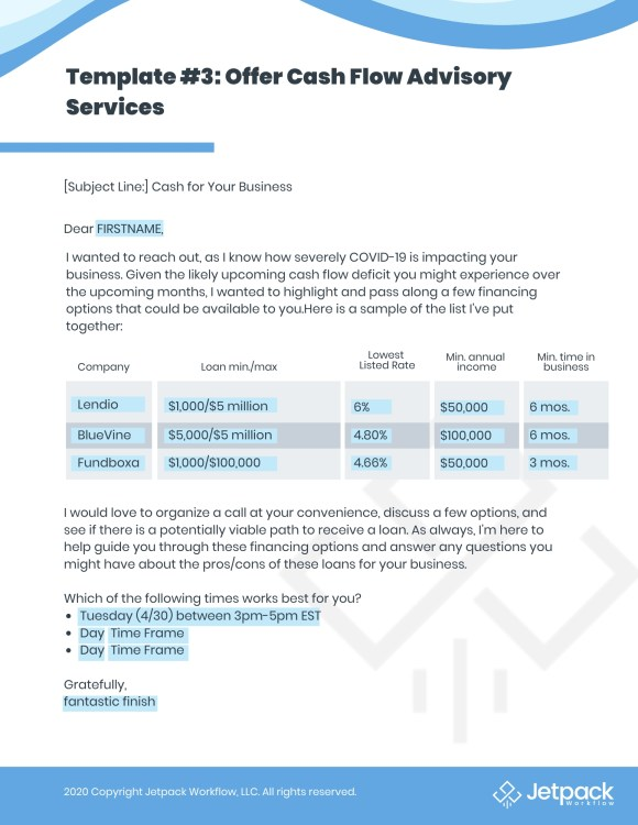 recession proof business email template 3