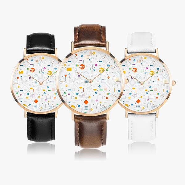 Print On Demand Leather Strap Watch