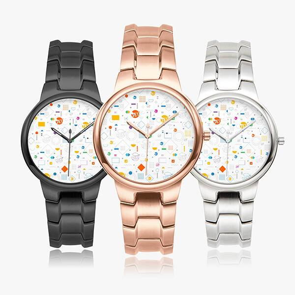 Print On Demand Stainless Steel Watch