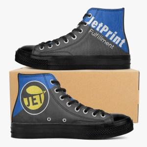 2021 New Custom Shoes New High-Top Canvas Shoes - Black