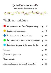 2ème cahier table des matières