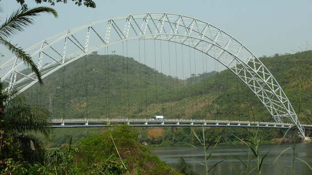 Adomi Bridge on Lake Volta