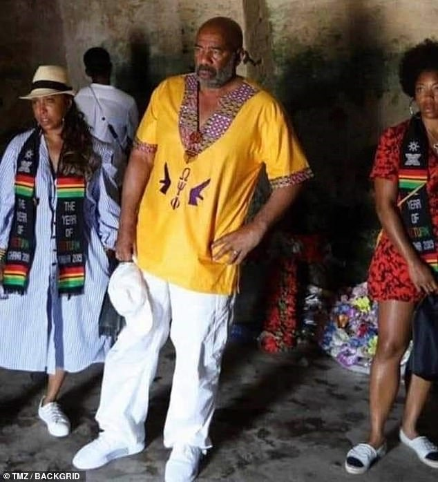 Steve Harvey at Cape Coast Castle