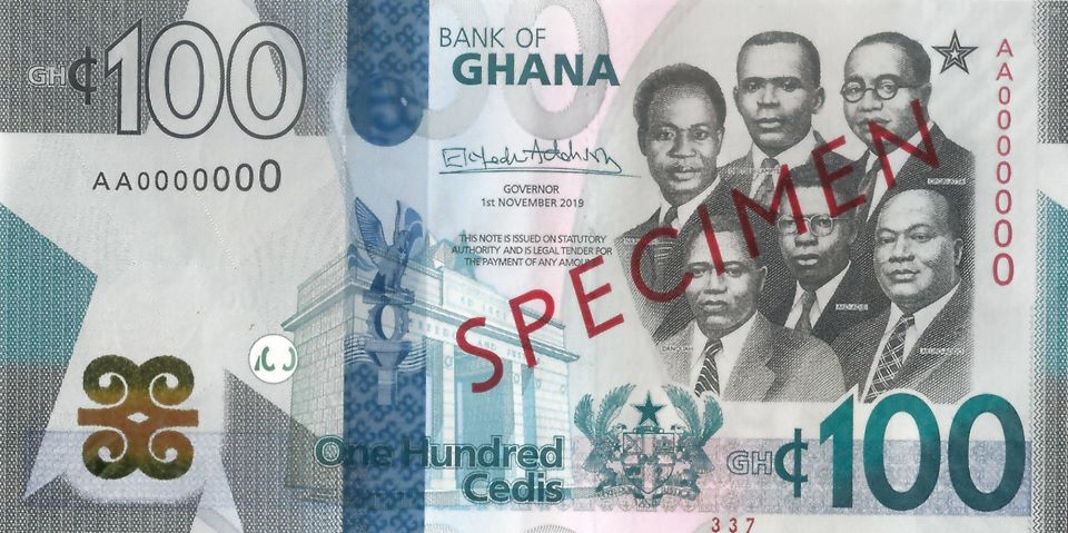 New Bank of Ghana note: GHS 100