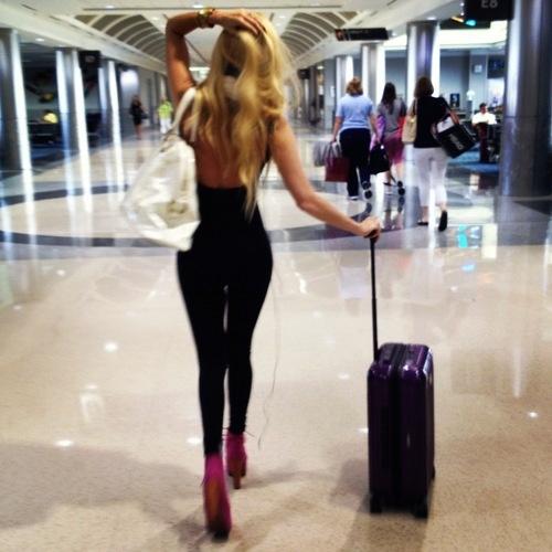 Elegant travel girl