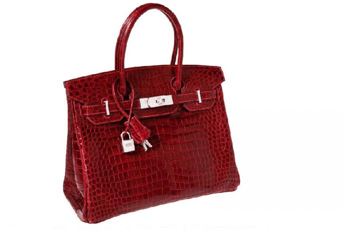 Hermes Porosus Crocodile Handbag