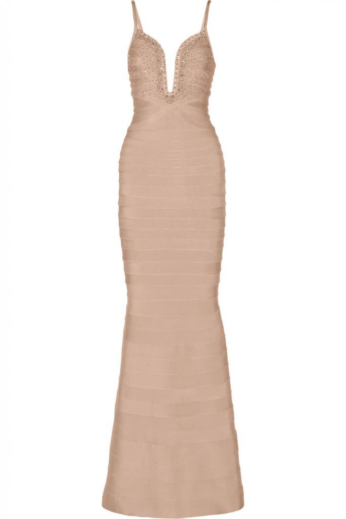 Herve Leger Embellished bandage gown
