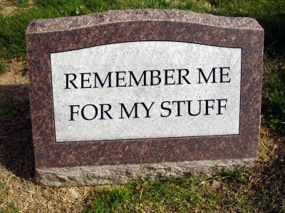 Remember me for my stuff
