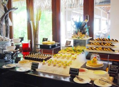 food buffet display