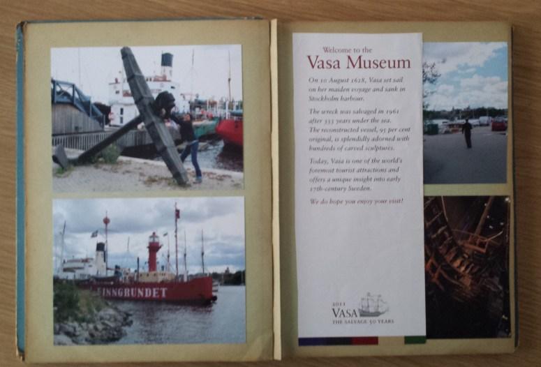postcard album double page spread