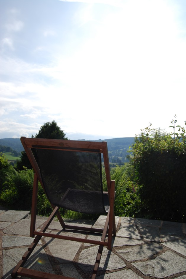 Catching the sun on the patio, Lake District