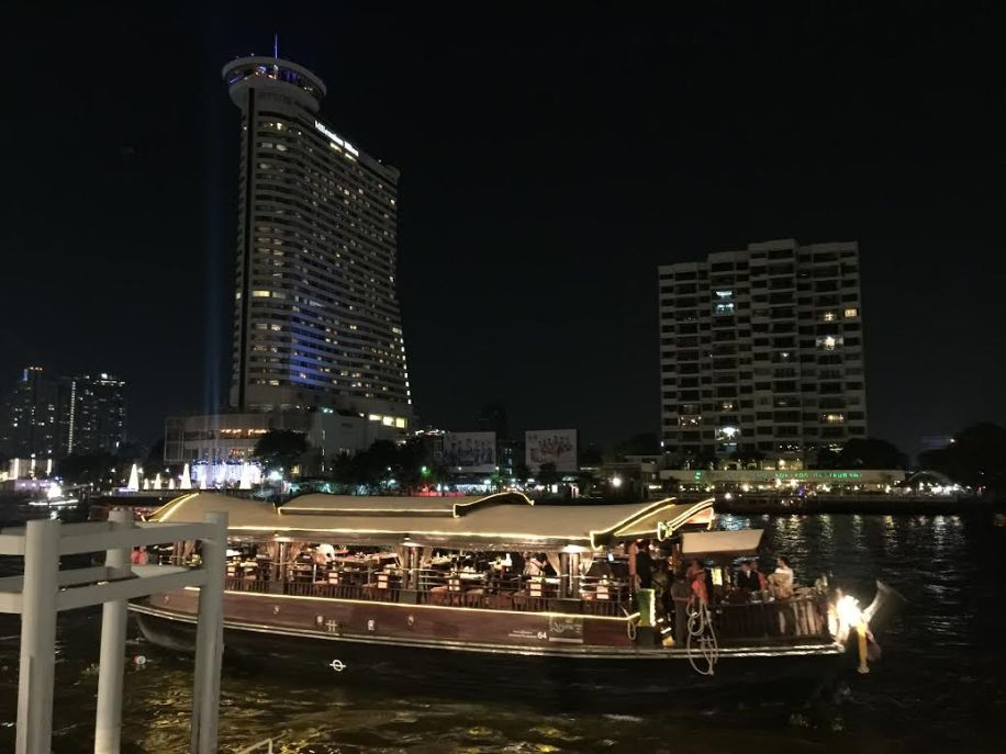 Apsara cruise coming in, Bangkok, Thailand