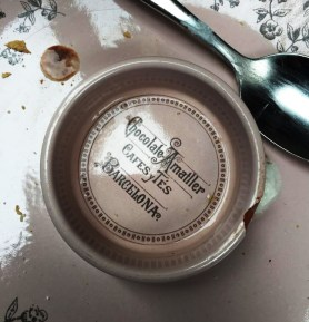Cafe Faborit Amatller Hot Chocolate Barcelona cup