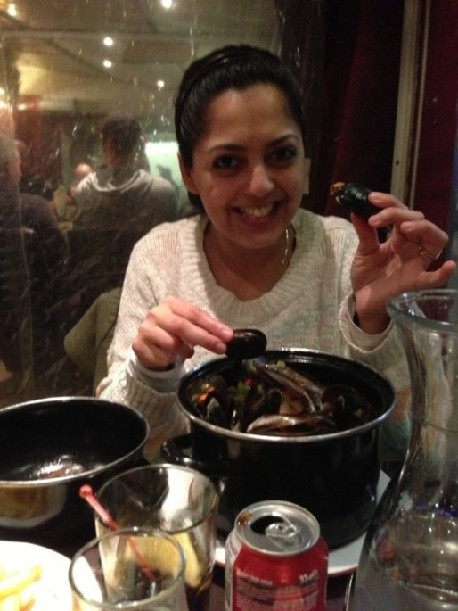 Having Moules Frites in France
