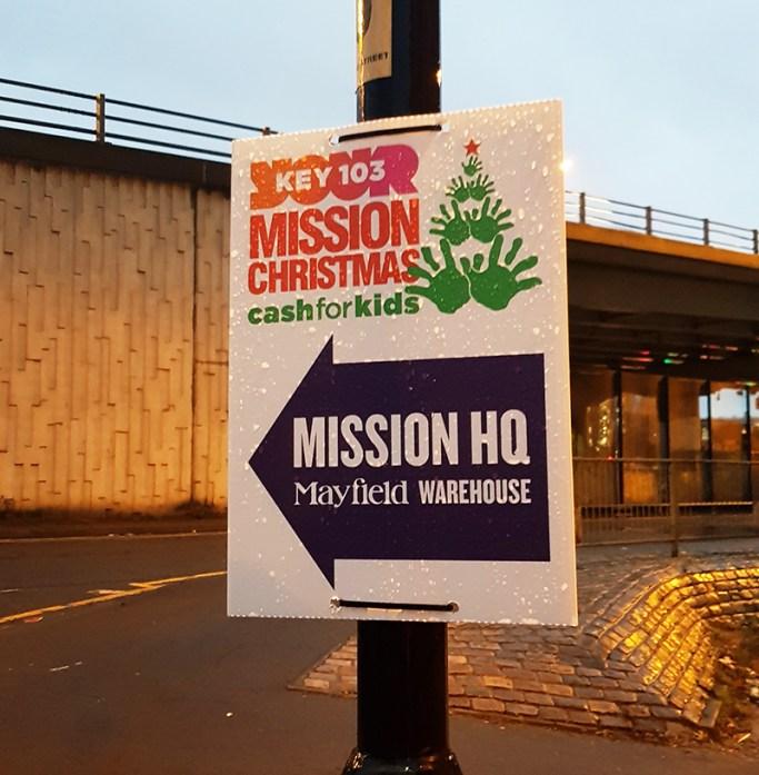 Mission Christmas Cash for kids Manchester 1