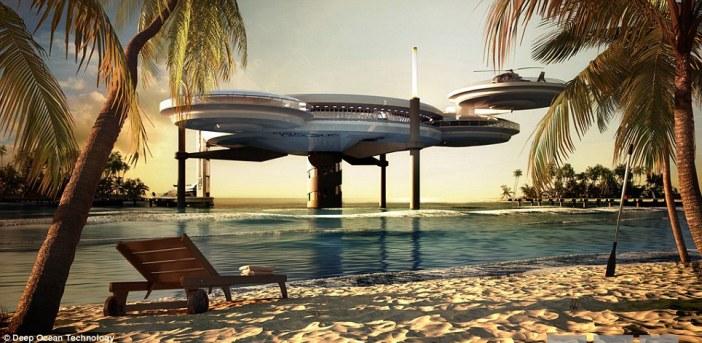 spaceship hotel maldives