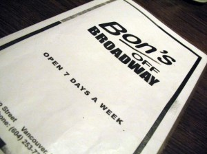 bon's off broadway canada vancouver