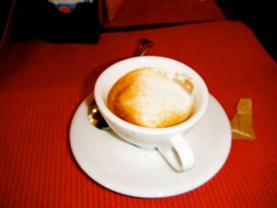 A caffe macchiato at Bar Impero