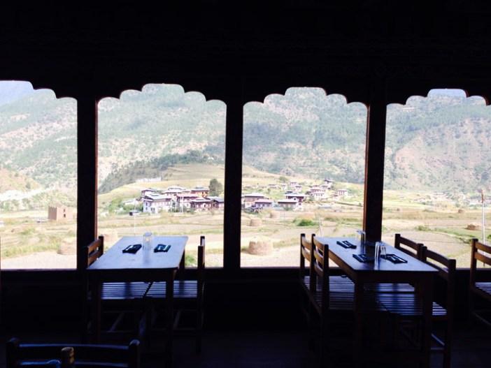 chime lakhang restaurant bhutan punakha