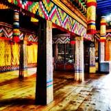 Gorgeous interior of Paro Dzong