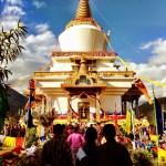Headed toward a Buddhist prayer session