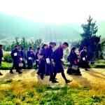 Higher schoolers in Thimphu