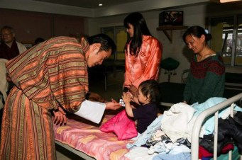 24. The King spent his birthday at a pediatric ward within a monastery last year.