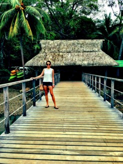 Leaving the incredible eco-resort, Isla Palenque