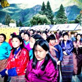 Local Bhutanese at a religious festival