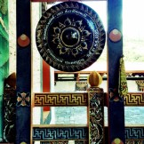 Traditional gong used during religious sermons