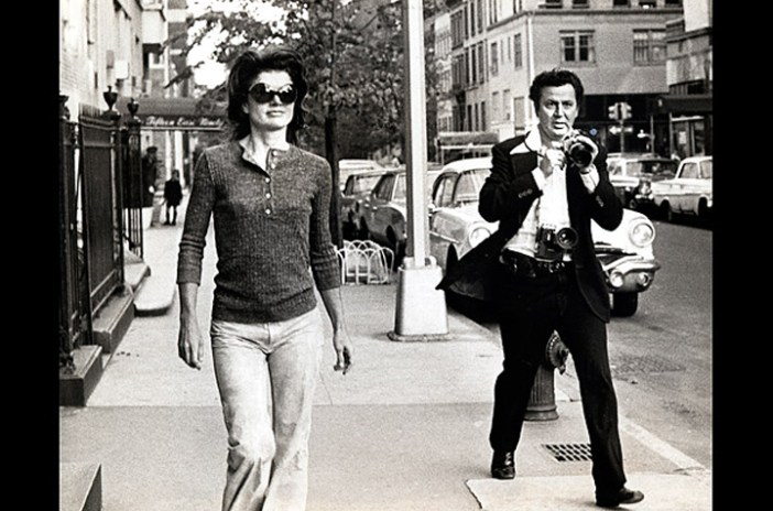 Jackie Kennedy and Ron Galella