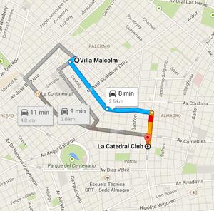 map tango argentina