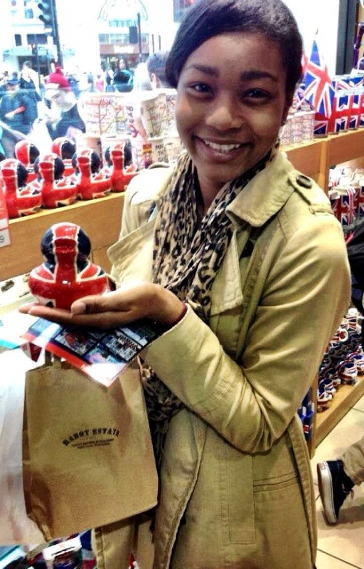 Dawn Fleming study abroad London souvenir
