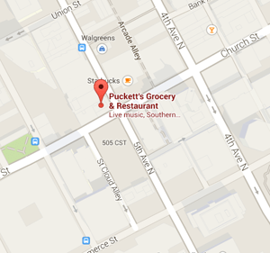 map pucketts 5th and church restaurant nashville tennessee