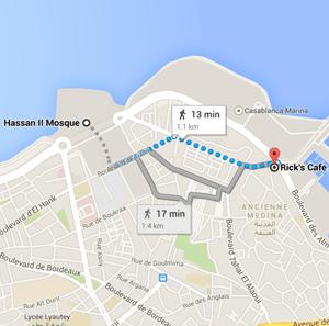 map rick's cafe casablanca morocco