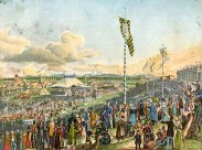 An interesting fact about the inaugural Oktoberfest was that horse racing was the prime attraction of the event until 1819, when the races were eventually discontinued.