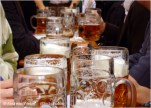 With over 5 million mugs in circulation during Oktoberfest, you can bet there are quite a few people who will try to take home a mug. Well, good luck with that. Every year security guards seize 226,000 mugs from would-be thieves (and in Munich it is considered a crime to steal a mug) resulting in a $60 fine. Many do manage to get away with the much coveted memento, which the Hofbräu beerhall can attest to, losing on average 35,000 mugs every year. But if you really want a mug, you can always purchase an official mug from Oktoberfest vendors on site.