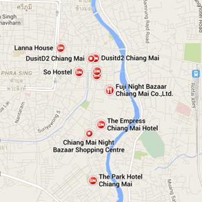 map night bazaar chiang mai thailand