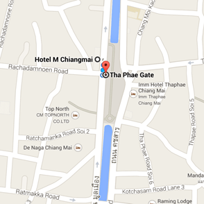 map sunday walking street market chiang mai thailand