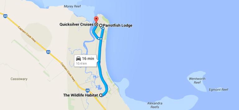 map great barrier reef australia