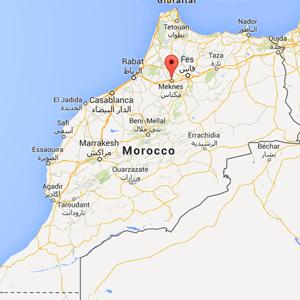 Map - Meknes, Morocco