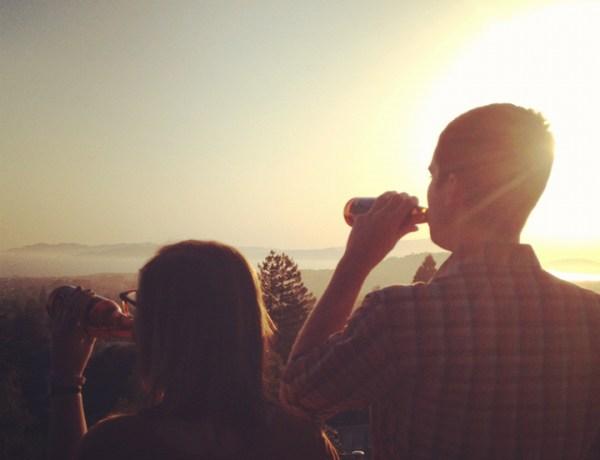 Lena home homies beer sunset