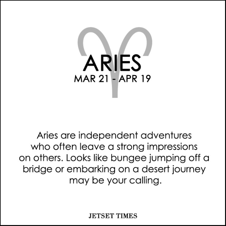 Travel Horoscope Aries