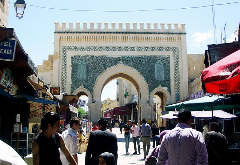 Flickr Anthony Knuppel blue gate fez morocco