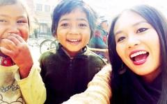 Nepal children selfie