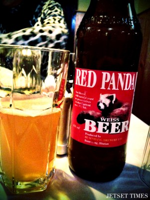 Red Panda Beer: This tasty beer is prevalent throughout Bhutan, the taste is refreshing and light. (Photo credit: Jetset Times)