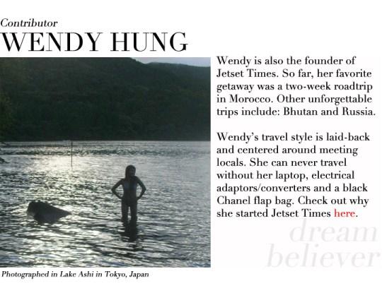Wendy Hung contributor profile Tokyo Japan